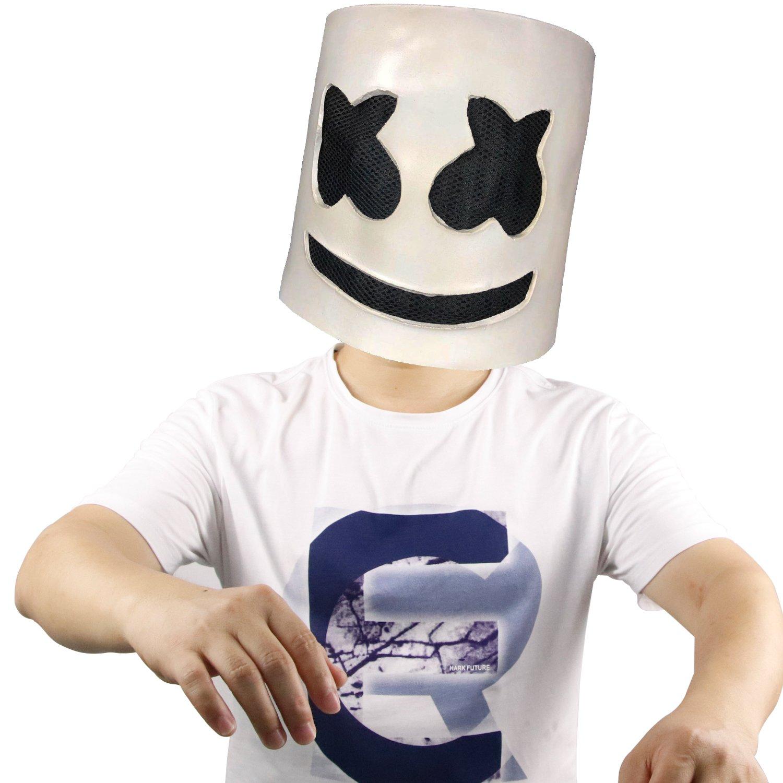 Molezu Top 10 DJs Wear Masks, Music Festival Helmets, Novelty Costume Party Mask, Rubber Latex Ultra Cool Full Head Mask