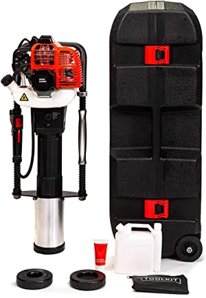 XtremepowerUS 52cc Gas-Powered T Post Driver Fence Post Driver Gasoline Piling 4-Stroke Engine EPA Certificated w/Storage Case