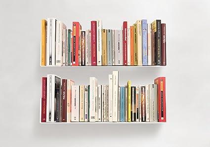 TEEbooks Estanterias para Libros U Juego de 2 - Rojo: Amazon ...