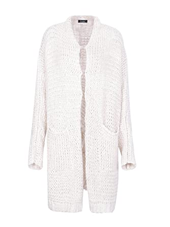 8cded3268f0d8 Simplee Women's Oversized Batwing Sleeve Open Front Long Knit Cardigan Sweater  Apricot