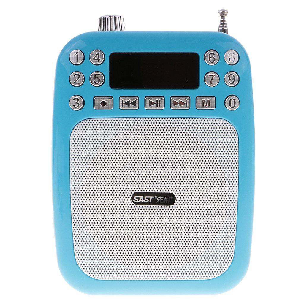 Sharplace Guías Amplificador de Voz Portátil de Canto Anti-ruido para Maestros Facilitadores Altavoz de Alta Calidad Portable Fácil Llevar. - Azul