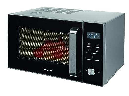MEDION MD 18042 - Microondas con grill, 900W, grill de 1000W, combinación de microondas y grill de 23L, 8 programas automáticos, función de ...