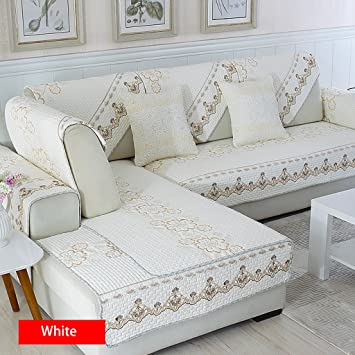 Qje Sofa Cushion Baumwolle Sofa Kissen Einfache Moderne Stoff Vier
