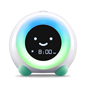 LittleHippo Mella Ready to Rise Children's Sleep Trainer, Alarm Clock, Night Light and Sleep Sounds Machine (Tropical Teal) bedtime routine for babies - 71ABUW1G33L - Bedtime routine for babies – the ultimate guide, hack, and gadgets