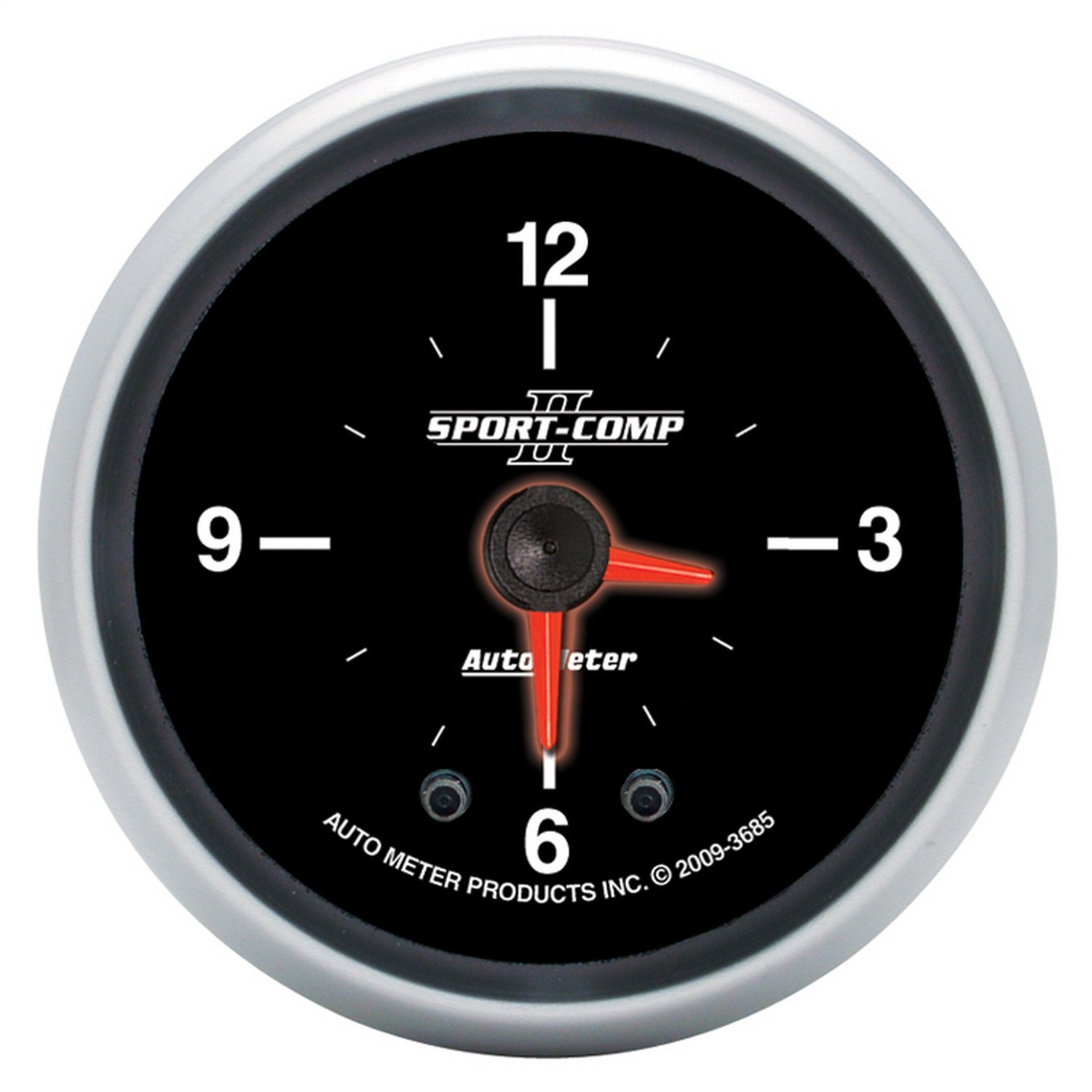 Auto Meter 3685 Sport-Comp II 2'' Analog Illuminated Clock Gauge