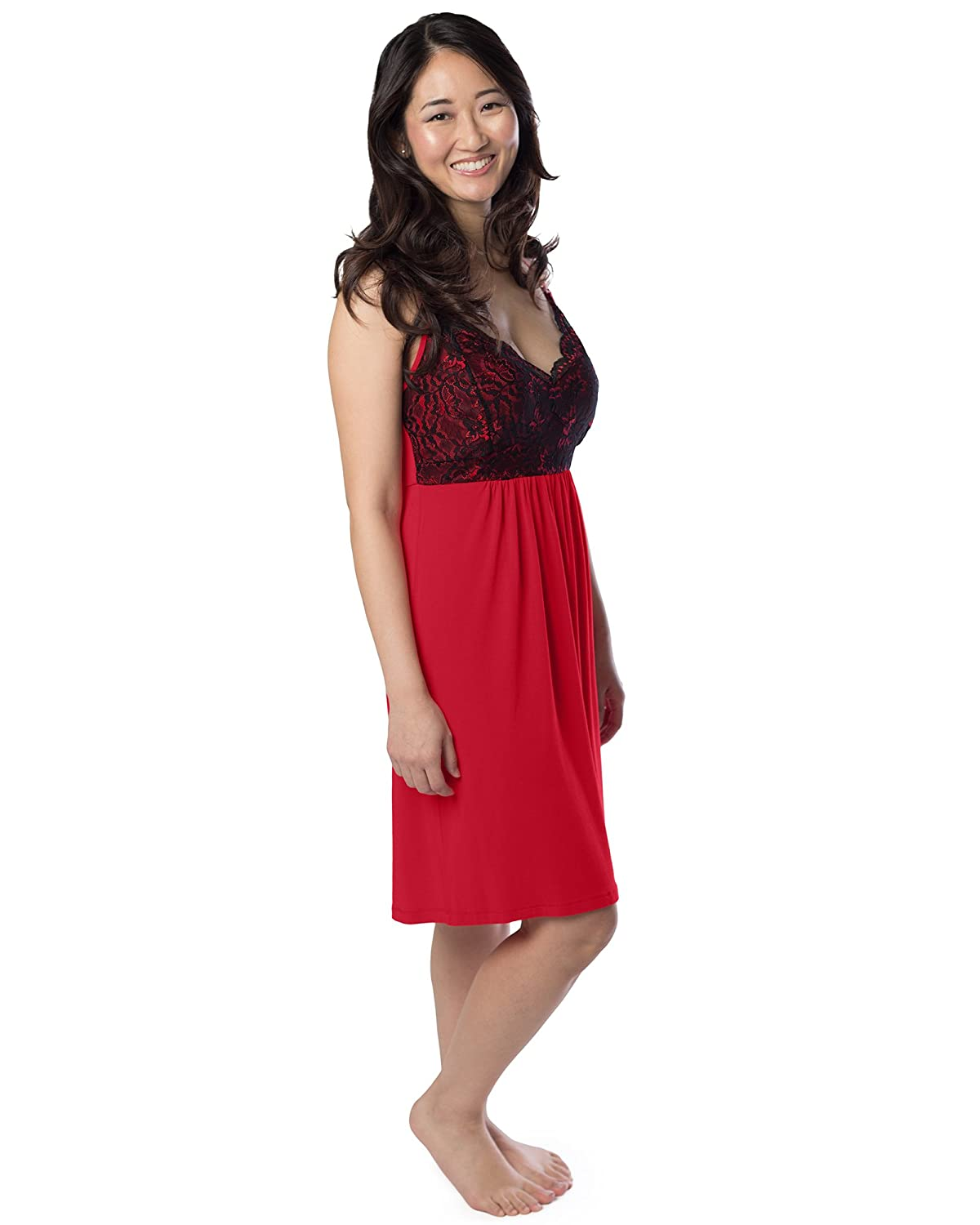 70e948556beef Kindred Bravely Lucille Nursing Nightgown   Maternity Gown - Multicoloured  - XXX-Large  Amazon.co.uk  Clothing
