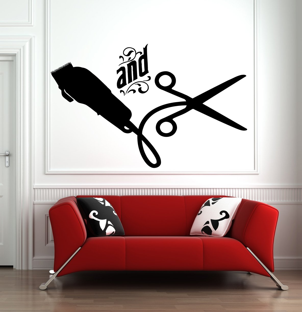 Hair Salon Wall Window Decal Sticker Hair Stylist Hair Tools Scissors Barber Shop Beauty Salon Hs029 Baby