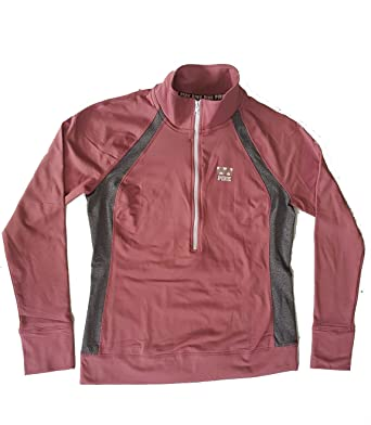 72c7fbce87241 Image Unavailable. Image not available for. Color: Victoria's Secret PINK  Ultimate Half Zip Pullover Jacket ...