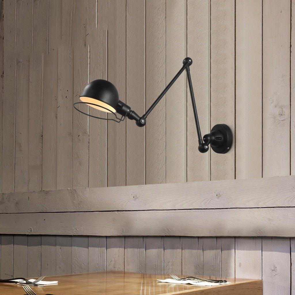 GYR Wall Lamp Study Bedside American American American Rural Retro Industrial Wind Weiß schwarz Mechanical Arm Wall Lamp,Schwarz B078GDB3HG | Treten Sie ein in die Welt der Spielzeuge und finden Sie eine Quelle des Glücks  00bc87