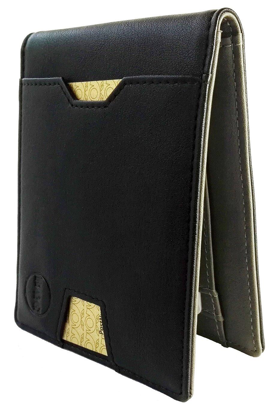 BEAR & GOODIES Ripley, Kreditkartenetui mit Geldklammer und Münzfach plus RFID Schutz, Geldbörse Portmonnaie Kreditkartenhalter Geldspange schmal