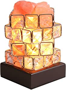 Himalayan Pink Salt Lamp,Greenclick Pink Crystal Rock Salt Lamp,3.3 Ibs Natural Hymalain Salt Lamps Night Light with Wood Base,Dimmer Switch &UL-Listed Cord Best Gift Idea (2 Extra Bulbs Included)