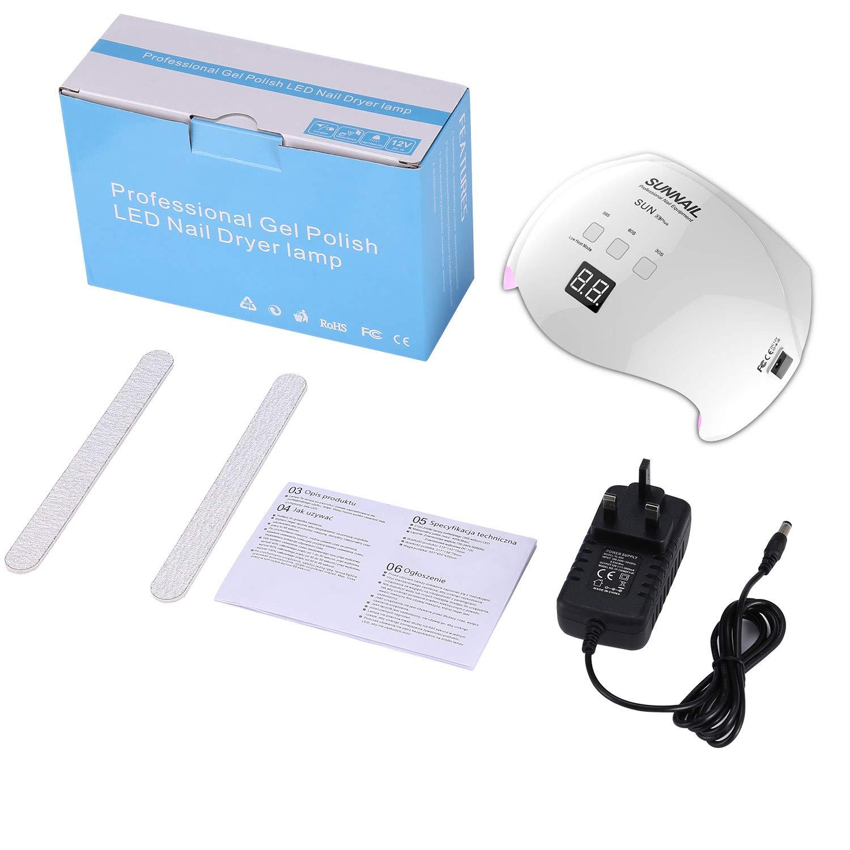Nageltrockner,U-Kiss LED Lampe für Gel,UV Nagellampe für Gel Nagellack,3 Timer (30s/60s/99s) und LCD Display