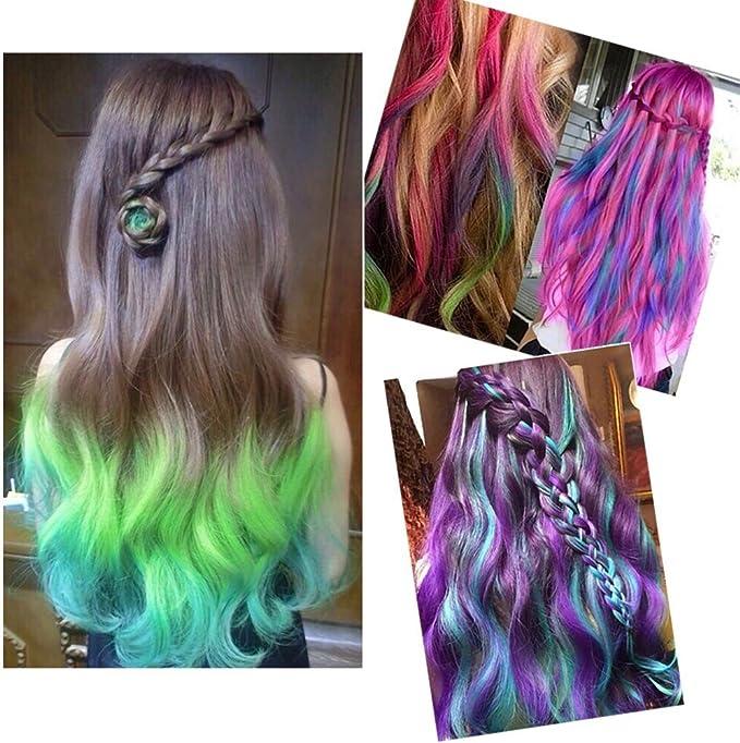 24 colores no tóxico temporal pelo tiza color tinte Soft Pastels DIY Kit, Blendable Pastel y Colores Primarios, para todo tipo de cabello