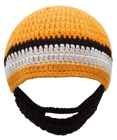 Amazon.com  Boys Ski Wacky Beard Knit Winter Hat Beanie Yellow  Clothing ef272400a37