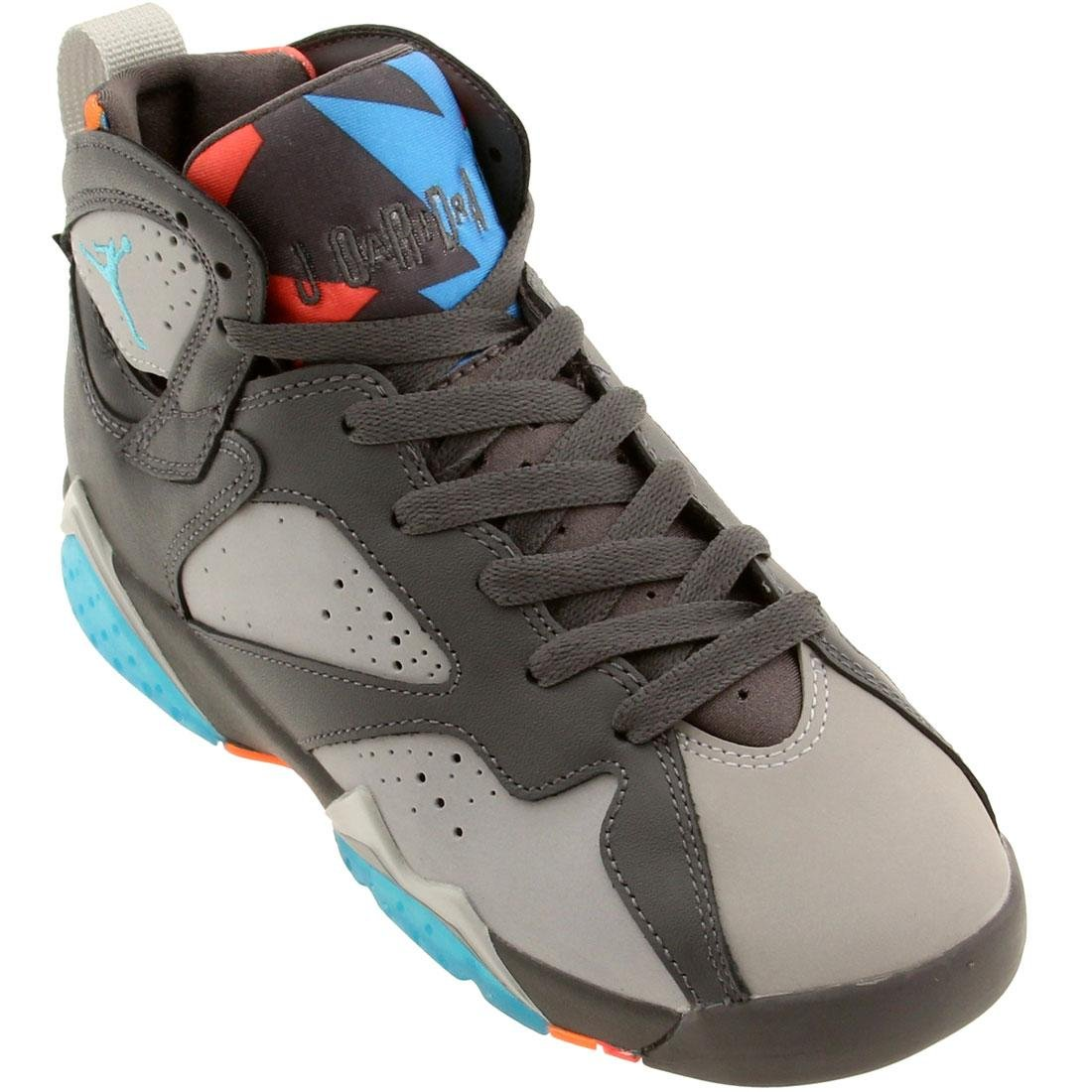Dark Grey Torquoise bluee-Wolf Grey-Total Grey Nike Men's Air Jordan 5 Retro Basketball shoes