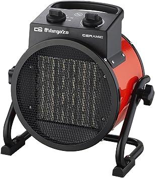 Orbegozo FHR 3050 Calefactor Cerámico Profesional con 2 Potencias de Calor, 3000 W, Metal, Negro...