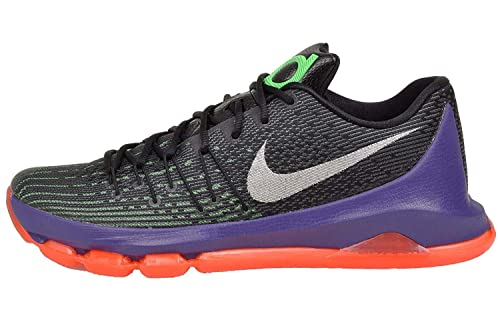the latest f240f e2a95 NIKE KD 8 Mens Basketball Shoes, Black/White-Green Shock-Hyper Orange, 9 M  US: Buy Online at Low Prices in India - Amazon.in