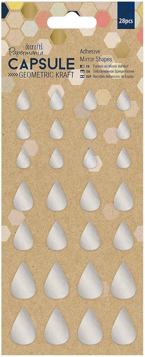 Multicolore Papermania Docrafts d/écorations Capsule g/éom/étriques 39 pi/èces 0.25 x 9.14 x 19.38 cm Multi-Colour