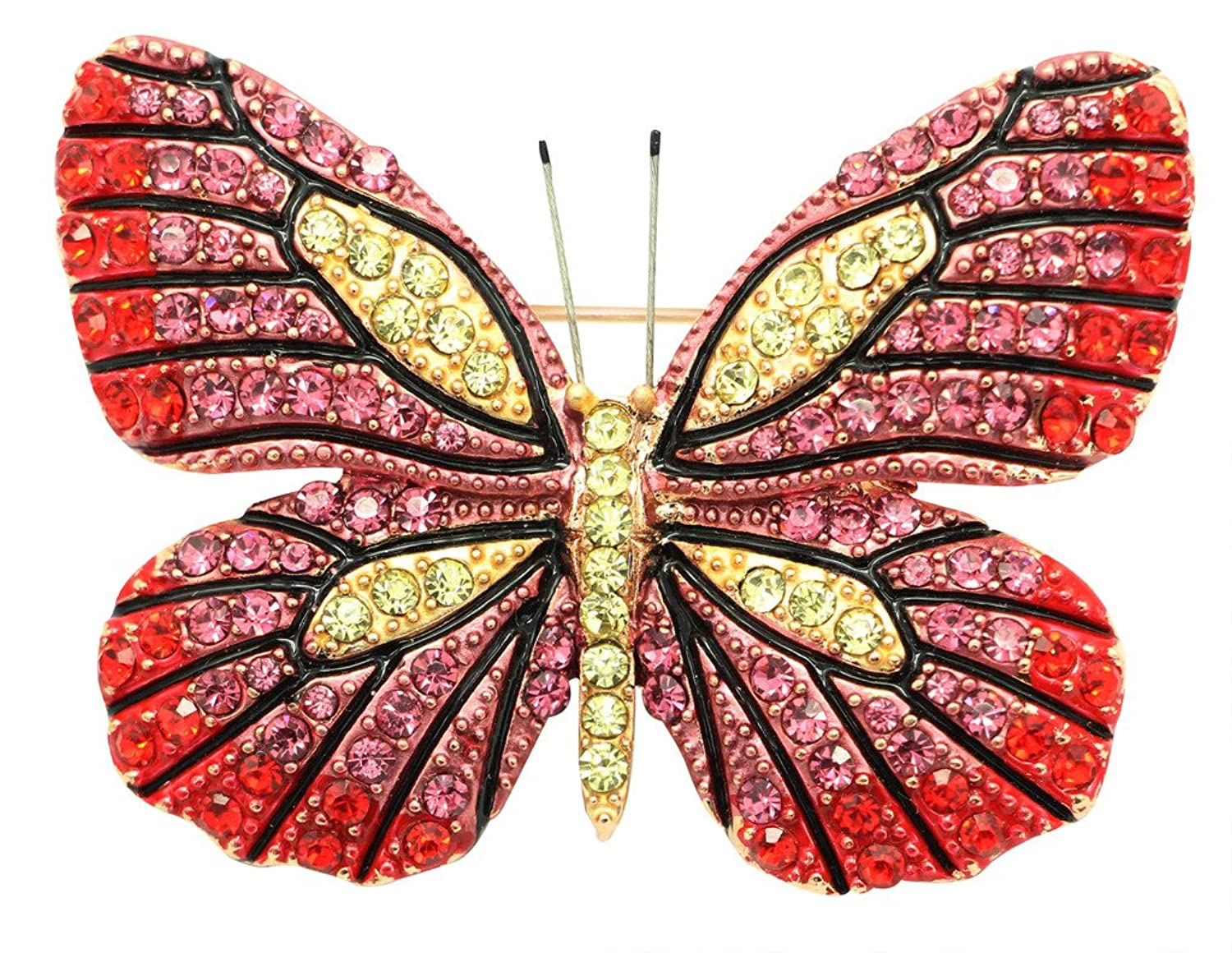 KristLand Austrian Crystal Cute Animal Butterfly Dragonfly Brooches Pins Corsages Scarf Clips