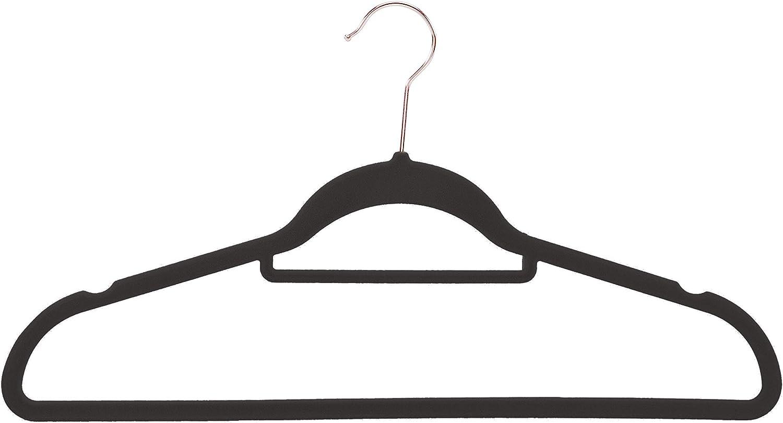 50 unidades Basics Perchas de terciopelo para trajes con barra horizontal color oro rosado