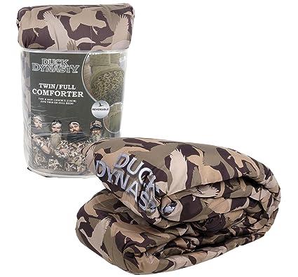 Duck Dynasty Twin/Full Reversible Tan Camo Bedding Comforter