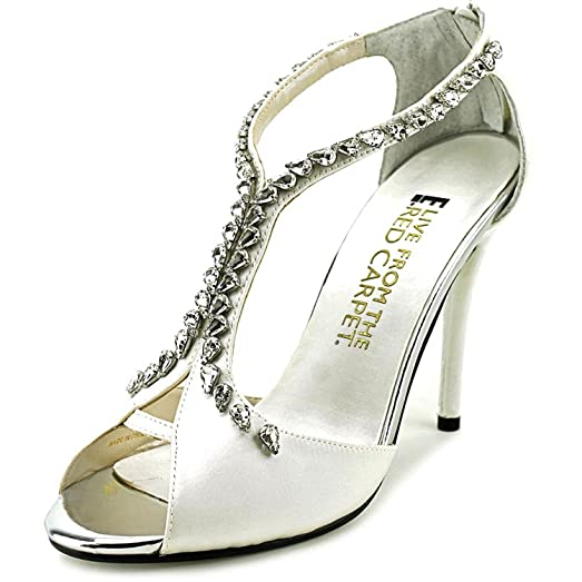 E! Live From The Red Carpet Women's Nadine Evening Sandals White Size 5.5