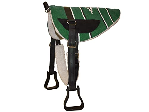 Derby Originals Tahoe Horse Bareback Pad with Reinforced Stirrups and Girth