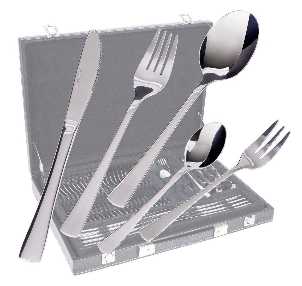 GRÄWE Gräwe - Cubertería de 60 piezas 12 personas acero inoxidable incluye tenedores de postre: Amazon.es: Hogar