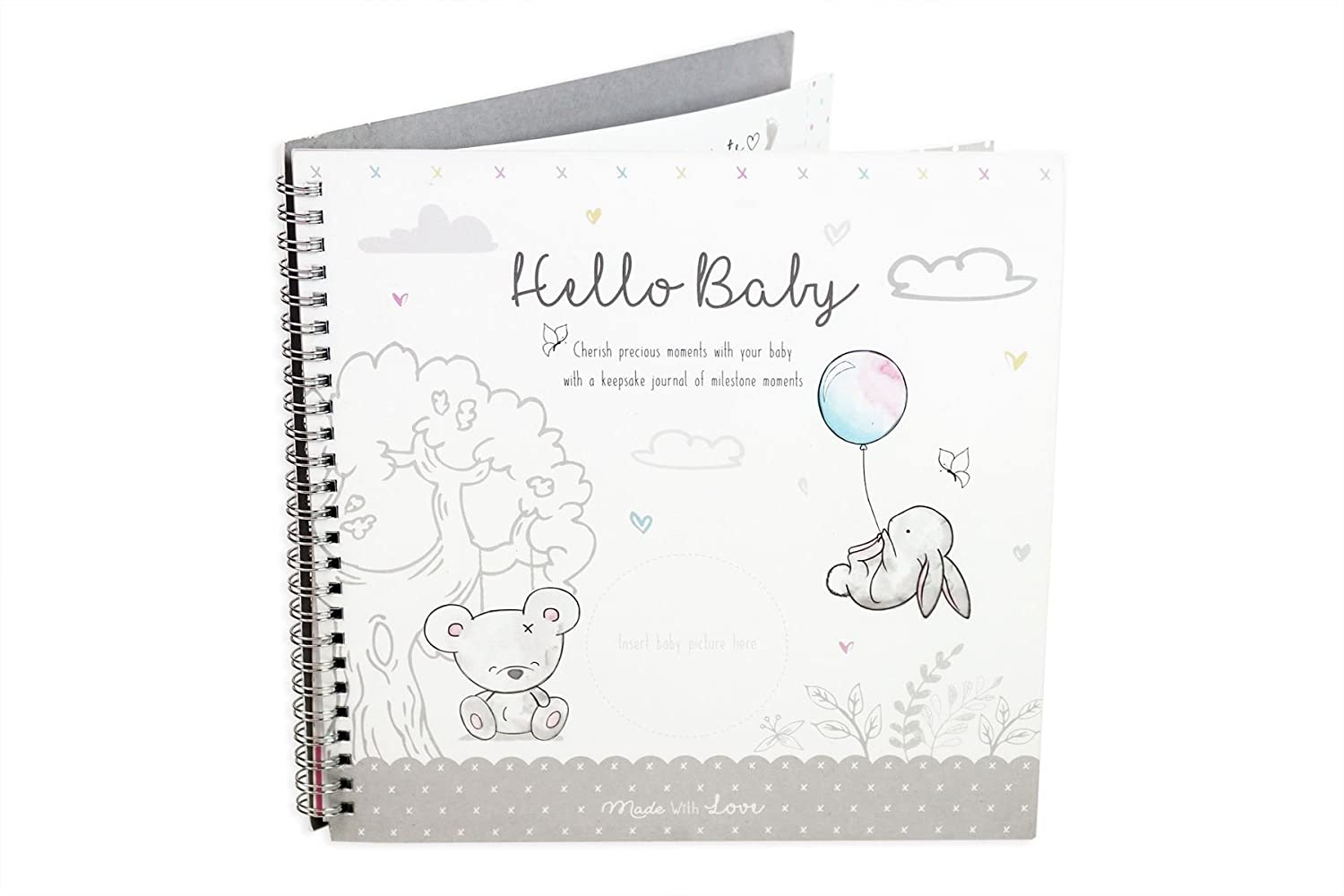 Baby Milestone Journal Keepsake Toddler Newborn Shower Christening Gift Diary RSW
