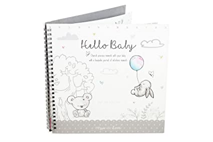 Diario de recuerdo para recién nacido o bautizo, diseño de hitos ...