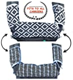 Drool & Teething Pad | FITS ALL CARRIERS | Reversible Organic Cotton 3-Piece set - Ideal for Infant Toddler Girls & Boys