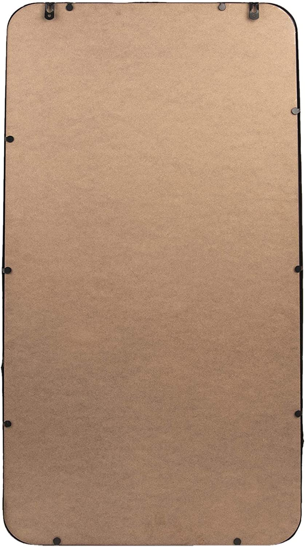 Clayre /& Eef 52S092 Miroir Mural Ovale Industriel en m/étal Noir 50 x 4 x 40 cm