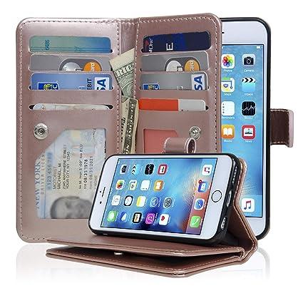 Amazon.com: iPhone 6/6S caso funda Vivienda cartera ...