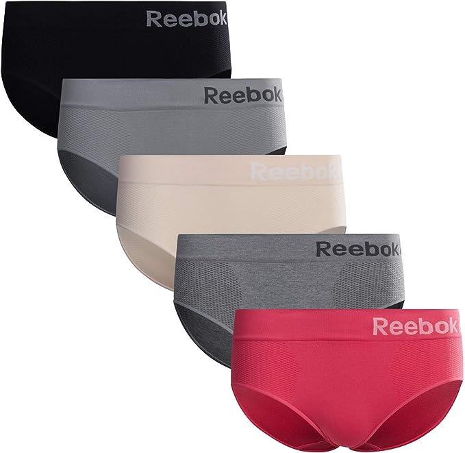 3 Pack Reebok Womens Plus Sized Underwear Seamless Hipster Briefs