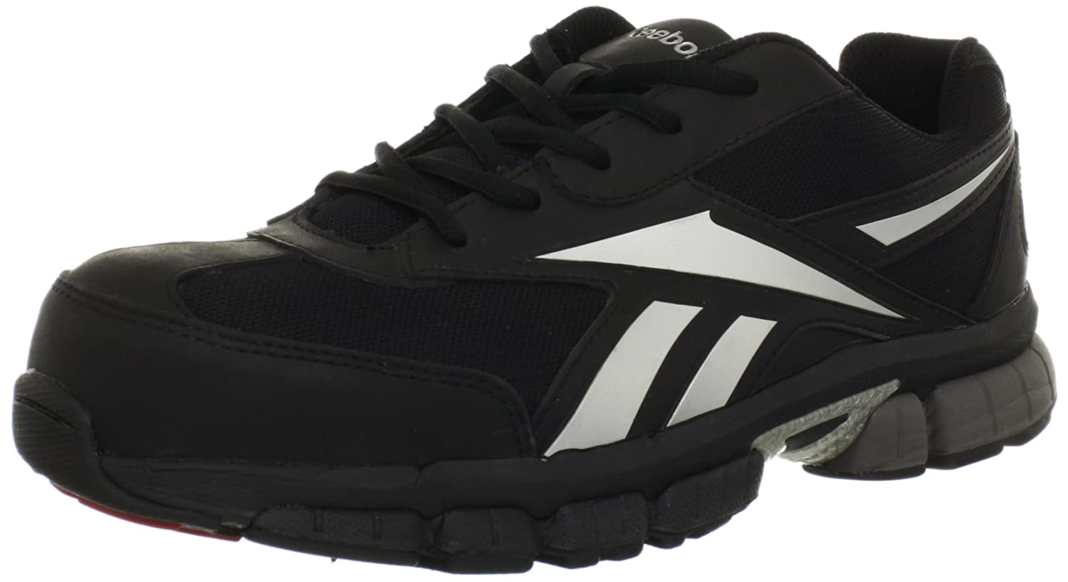Reebok Work Men's Ketia RB4895 EH Athletic Safety Shoe B009L5POMY 10.5 D(M) US|Black/Silver