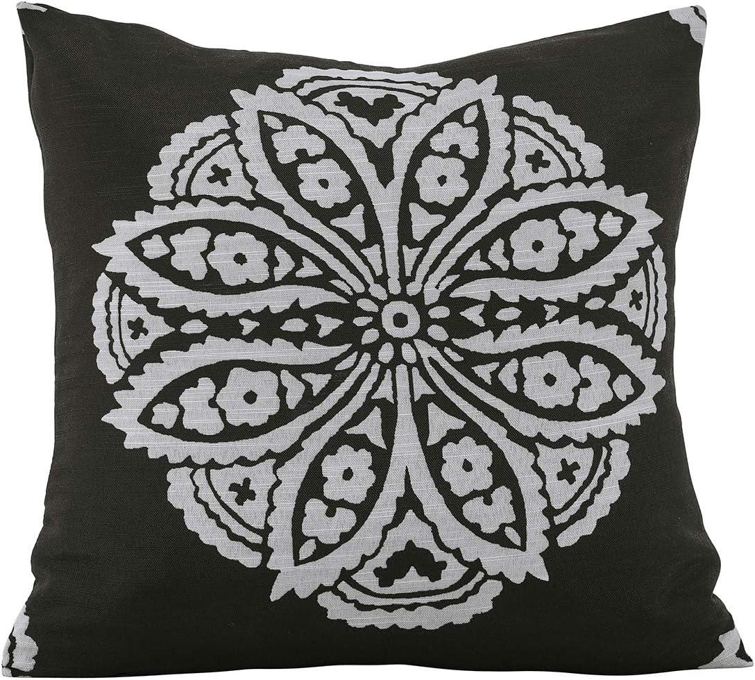 For Sofa Chair Pillowcase Pillowcases Bamboo And Flower Print Blue Cushion Cover