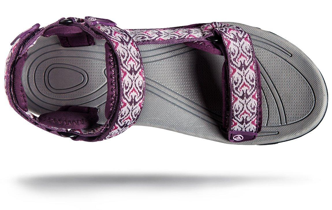 ATIKA AT-W111-MGT_Women 7 B(F) Women's Maya Trail Outdoor Water Shoes Sport Sandals W111 by ATIKA (Image #8)