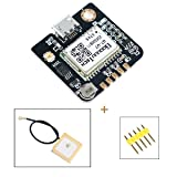 GPS Module GPS NEO-6M(Arduino GPS, Drone Microcontroller, GPS Receiver) Compatible with 51 Microcontroller STM32 Arduino UNO R3 with IPEX Antenna High Sensitivity for Navigation Satellite Positioning
