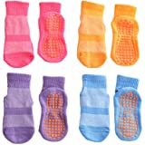 ESA Supplies Anti Skid Socks Toddler Girls Boys Trampoline Socks for Kids Bulk 4 Pairs