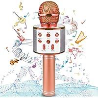 Uplayteck Micrófono Karaoke Bluetooth, Microfono Inalámbrico Karaoke Portátil con Función Selfie para Niños Canta…