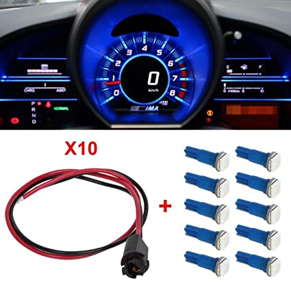 amazon com partsam 10xt5 blue smd led 73 hole extension connector Office Wire Harness at Odometer Wire Harness On Vehicle