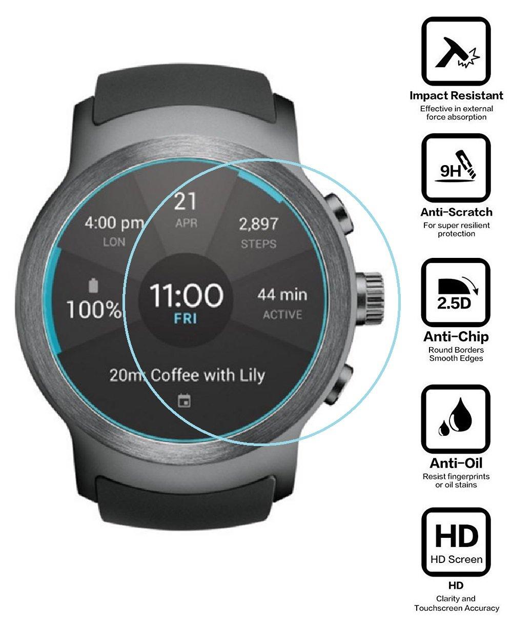 BlueBeach® 2 Piezas LG Watch Sport Protector de Pantalla Vidrio ...