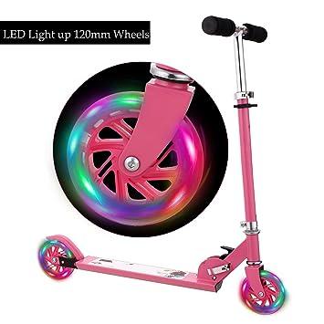 Ancheer B1 - Patinete para niños con ruedas LED de ...