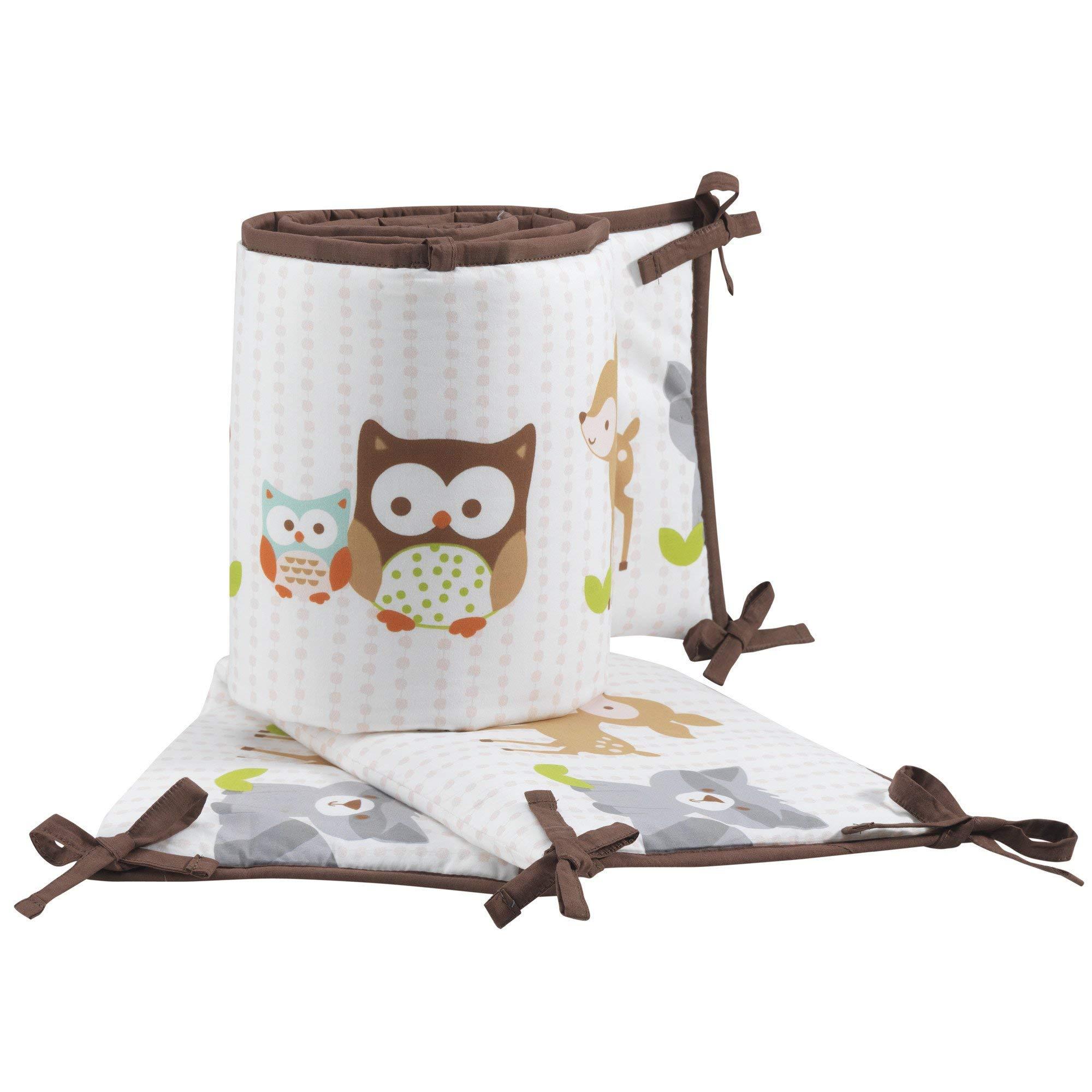 Bedtime Originals Friendly Forest Woodland, 4 Piece Crib Bumper, Green/Brown by Bedtime Originals