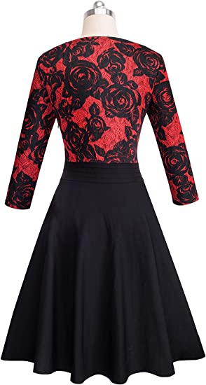 Women's Chic V-Neck Lace Semi Casual Party Dress