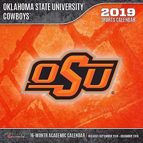 Oklahoma State Academic Calendar.Amazon Com Oklahoma State Cowboys Wall Calendar Oklahoma State