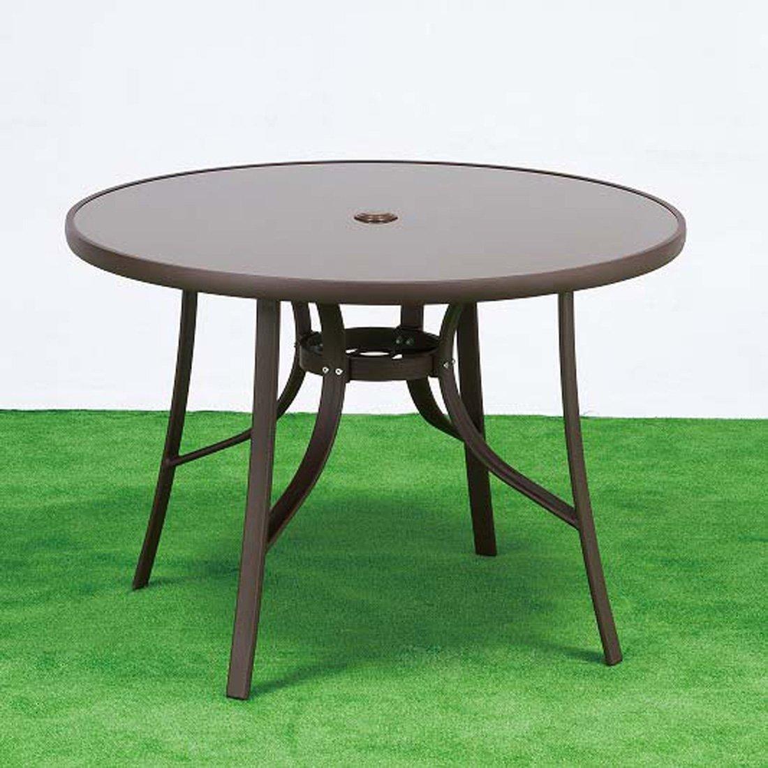 パティオガーデンカフェテーブル  ガラス ガーデンテーブル GDT-102 B00JKB3VC4