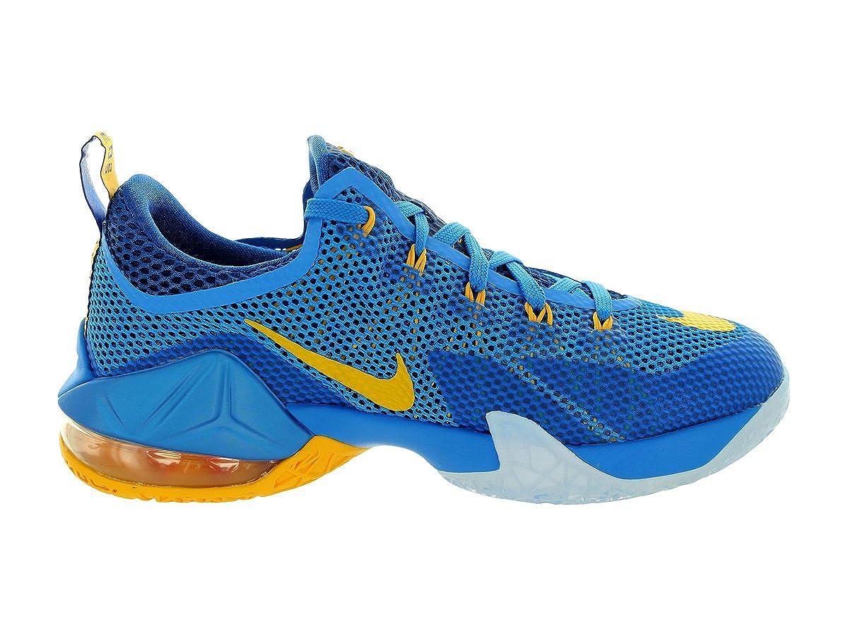 online store 729f5 b771b Amazon.com   Nike Kids Lebron XII Low (GS) Photo Blue Unvrsty Gold Gym Bl  Basketball Shoe 6 Kids US   Basketball
