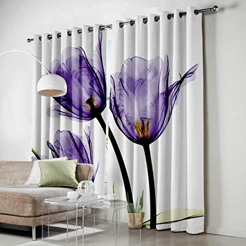 SODIKA Grommet Window Panel Curtain Set