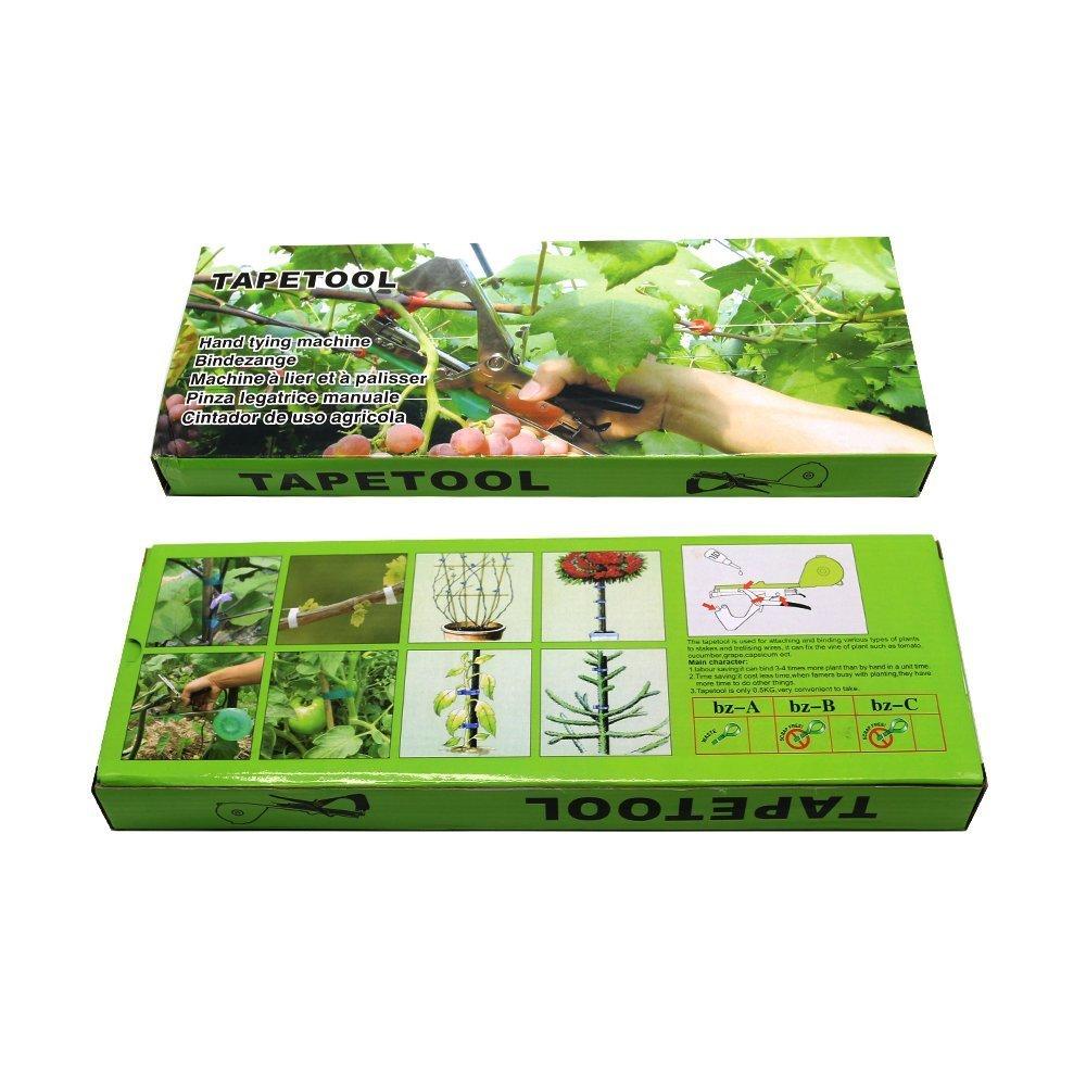 Bnice Herramienta de atado de plantas para atar a mano, herramienta de máquina de atar, herramienta de agricultura para plantas y jardines de frutas y ...